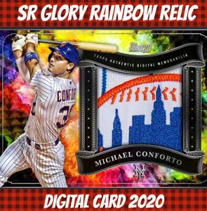 Topps Bunt Digital 20 Michael Conforto Mets Glory Rainbow Relic Series 2 2020