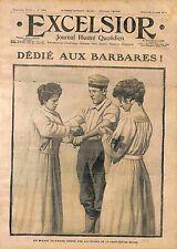 Soldier Feldgrauen wounded Nurses Red Cross Croix Rouge de Belgique WWI 1914