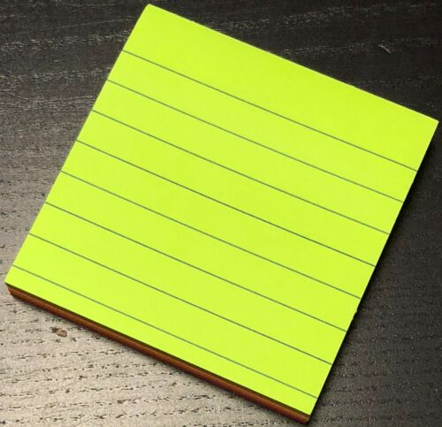 NEON ALL SIZE 100 SHEETS COLOUR STICKY NOTES PAD,MEMO PAD SELF ADHESIVE LINED