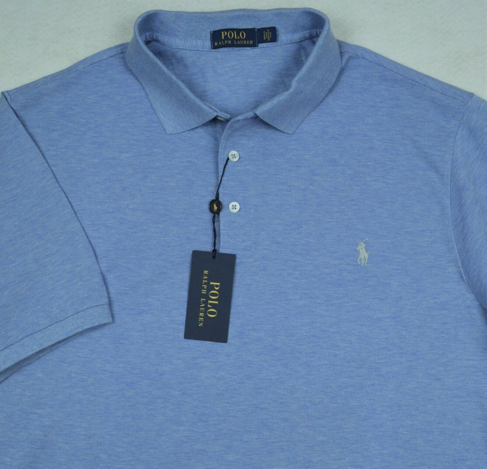 Polo Ralph Lauren Shirt bluee 3-Button Stretch Mesh 4XB 4X NWT