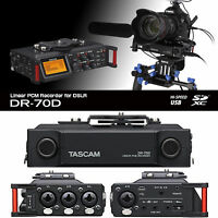 Tascam Dr-70d Portable Digital Dslr Film Makers Field Recorder $15 Instant Off