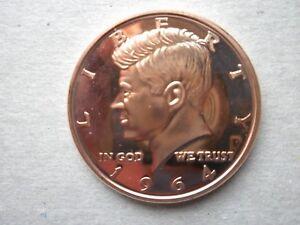 1 oz Copper Round 1964 Kennedy