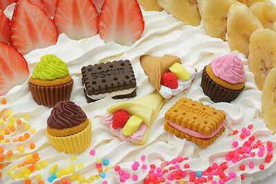 Iwako Cake Type 3 - Biscuit Cookie, Cream Crepe, Cupcake Japanese Eraser