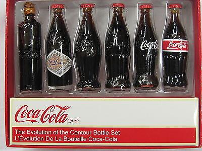 Coca-Cola Evolution of the Contour Bottle Set - BRAND NEW!