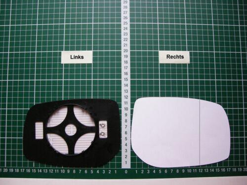 Rétroviseur Extérieur Miroir De Verre Ersatzglas Toyota Auris à Partir De 2006-2012 Li O RE ASPH bhzt