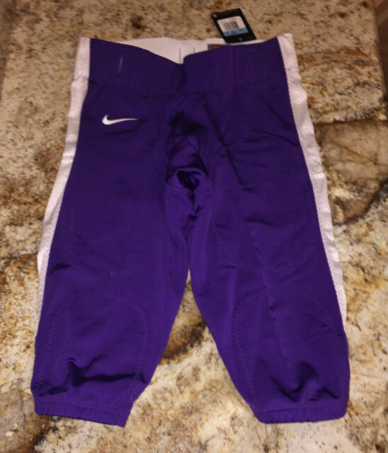 280aebd2293 NIKE Adult Stock Open Field Purple White Team Football Pants NEW Mens S M L  XL