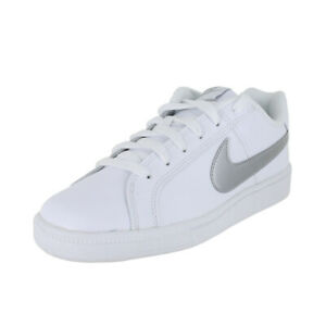 f456d2cc27 NIKE WMNS COURT ROYALE WHITE METALLIC SILVER 749867 100 WOMENS US ...