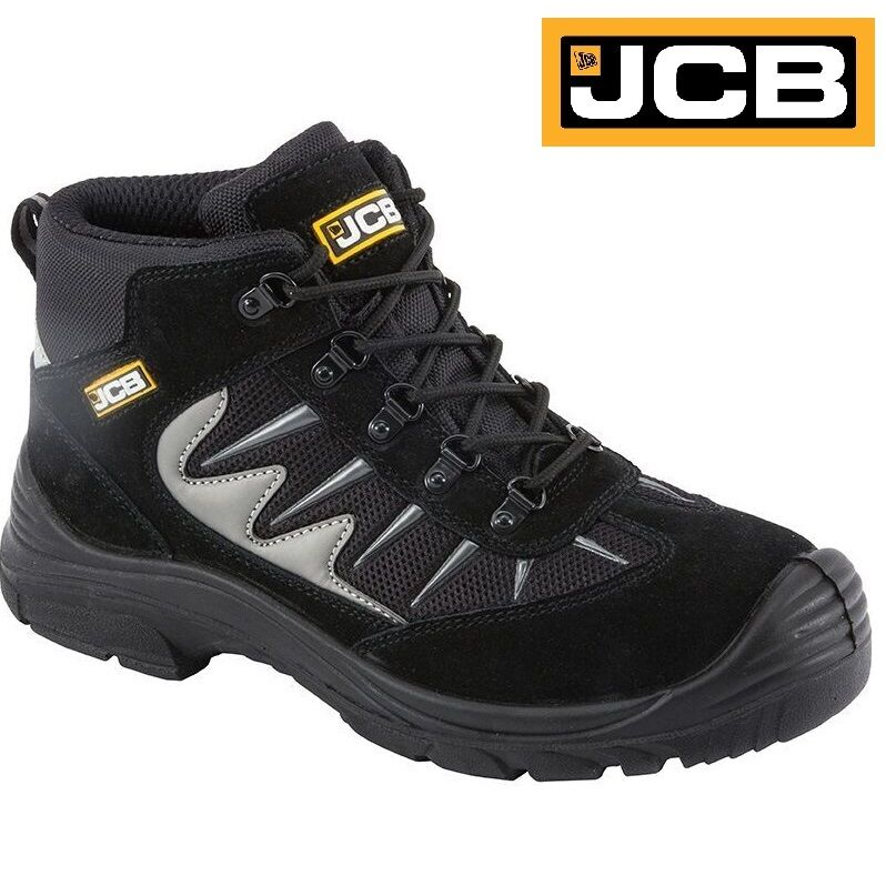 MENS JCB LEATHER LIGHTWEIGHT SAFETY WORK BOOTS STEEL TOE CAP TRAINERS SHOES SIZE