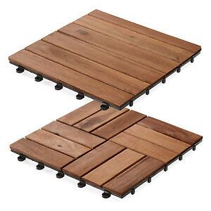 Image Is Loading Acacia Wood Decking Tiles Interlocking Wooden Garden Patio