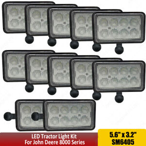 simetriaoptica.com 2 SUPER bright LED light bulbs Deere 8100 8110 ...