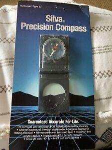 Silva Precision Compass Type 23- Guaranteed Accurate For Life!!! New 1989 Seal
