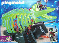 Playmobil 4803 - Glow In The Dark Ghost Whale Skeleton & Pirates - & Boxed
