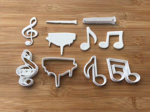 Lot de 5 musique thème Biscuit Cookie Cutter Fondant gâteau Décoration Moule