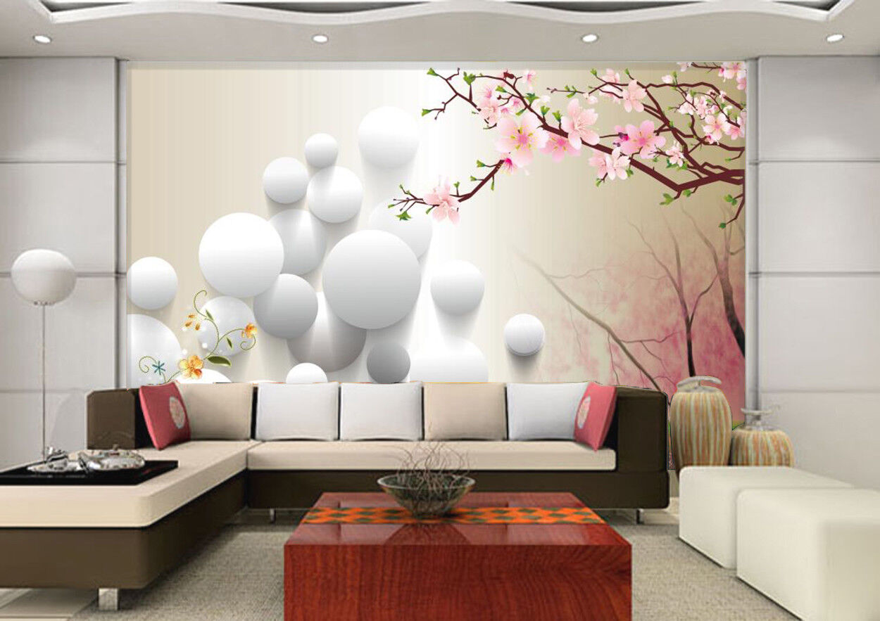 3D Ball bluemen 56 Tapete Tapeten Mauer Foto Familie Tapete Wandgemälde