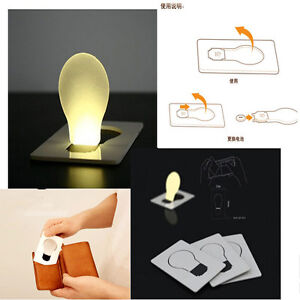 Image Is Loading Portable Pocket Led Card Light Lamp Put In