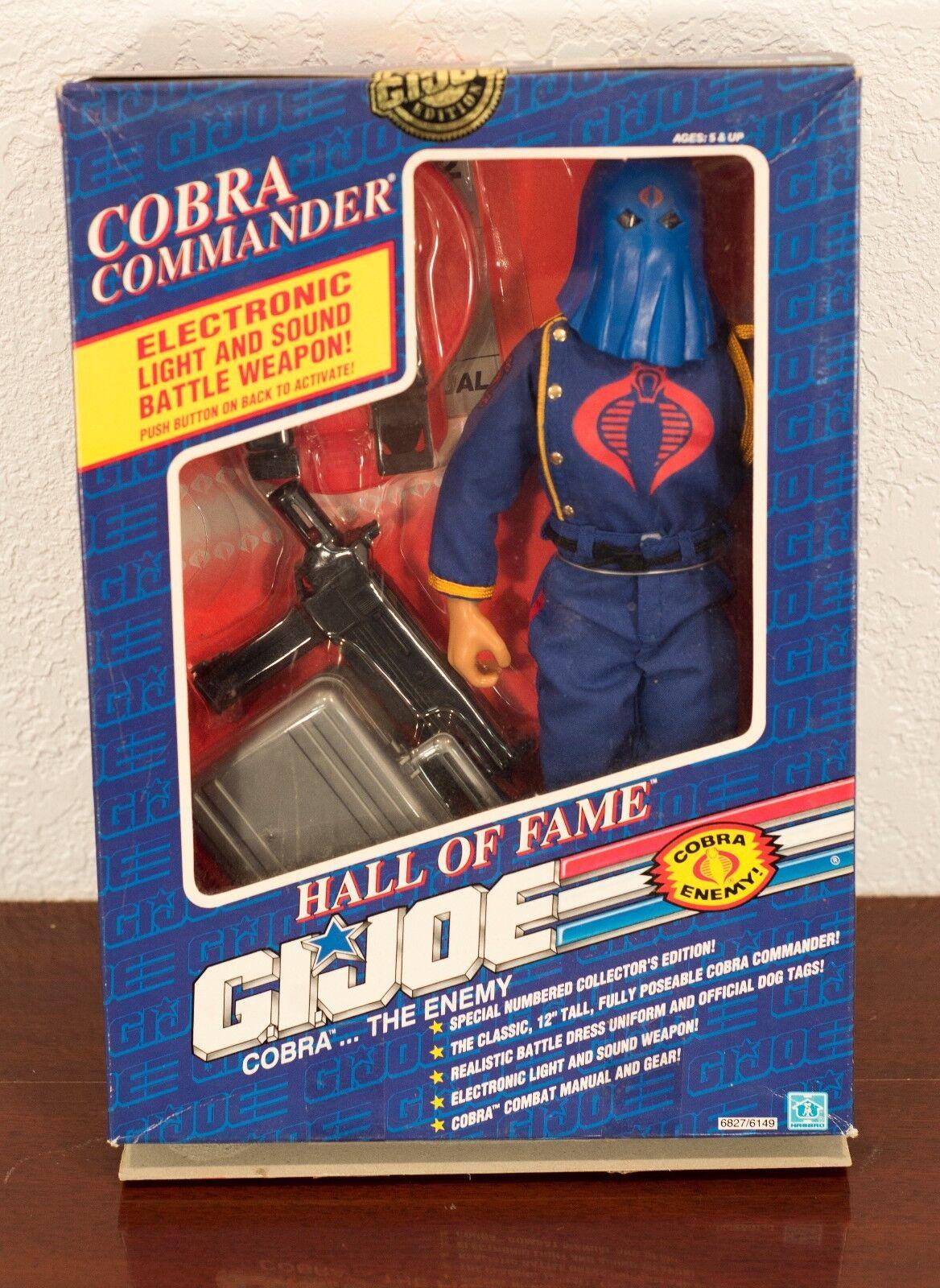 1991 - gi joe hall of fame cobra - kommandant actionfigur mib