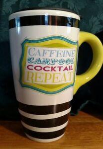 Carpool 6 Caffeine Repeat 17oz Ceramic Latte Coffee Cup Cocktail About Travel Mug Details New NnwmOv80