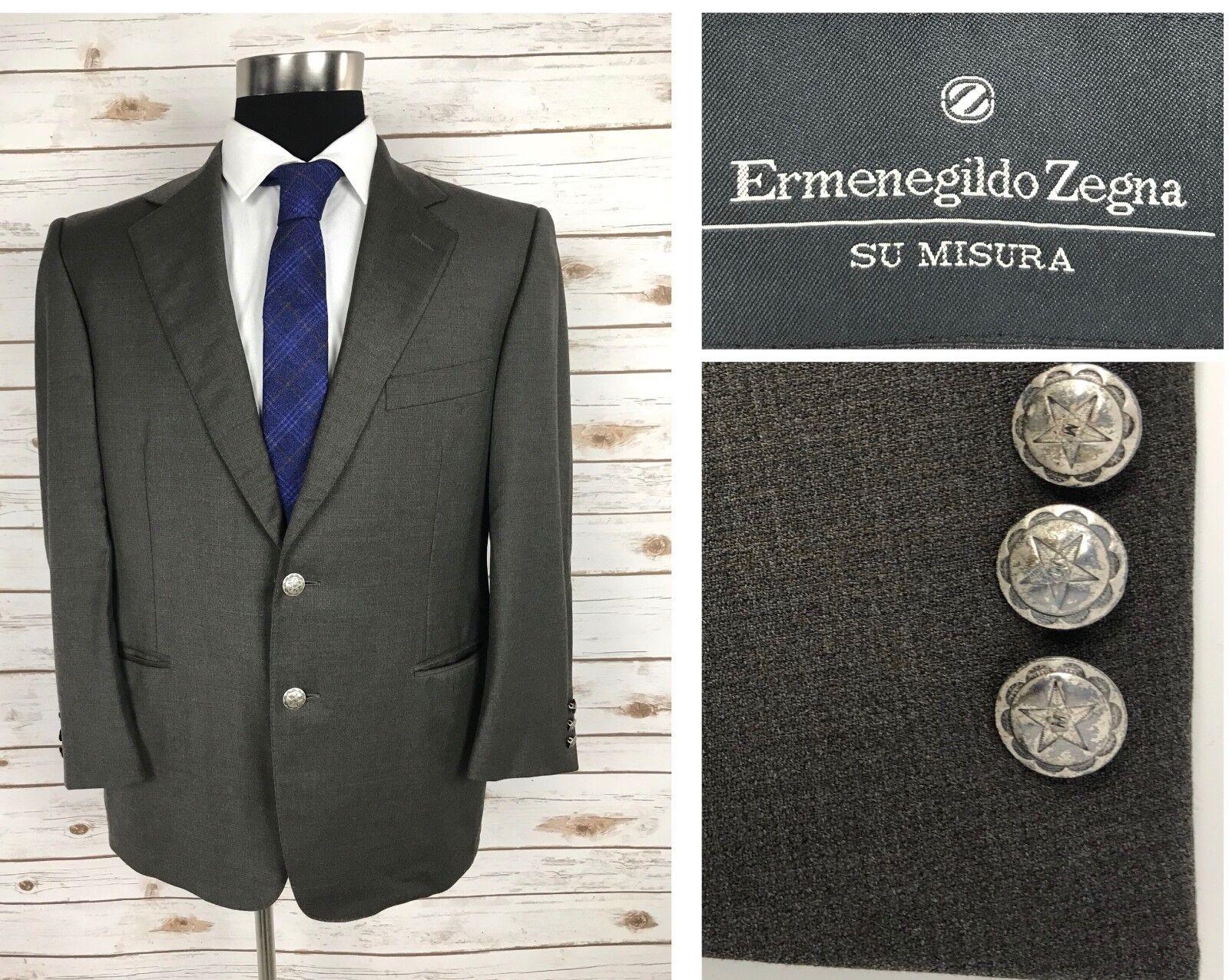 Mint  Ermenegildo Zegna Su Misura Traveller  Herren Canvassed Blazer Sport Coat 42S