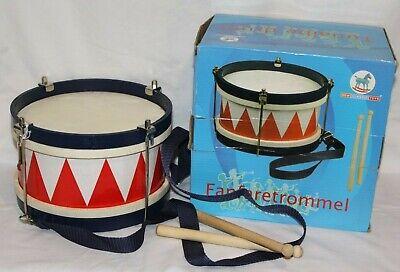 Amichevole Pompa Magna In Legno Tunalbe Drum Con Cinturino E Bastoni. Rosso, Bianco & Blu-mostra Il Titolo Originale