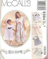 Mccall's 6394 Girls' Dress, Pantaloons & Hatband - Only One Of Each Size 3 To 12