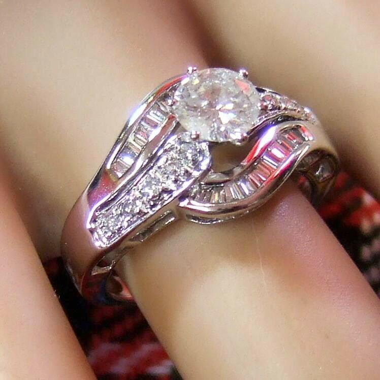 18ct white gold second hand diamond ring