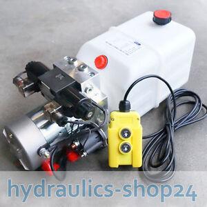 1 x Funkfernbedienung Funkfernbedienung Hydraulikaggregat 12V 180 bar 2000 Watt Hydraulikpumpe mit 7 Liter Tank und Kabelfernbedienung