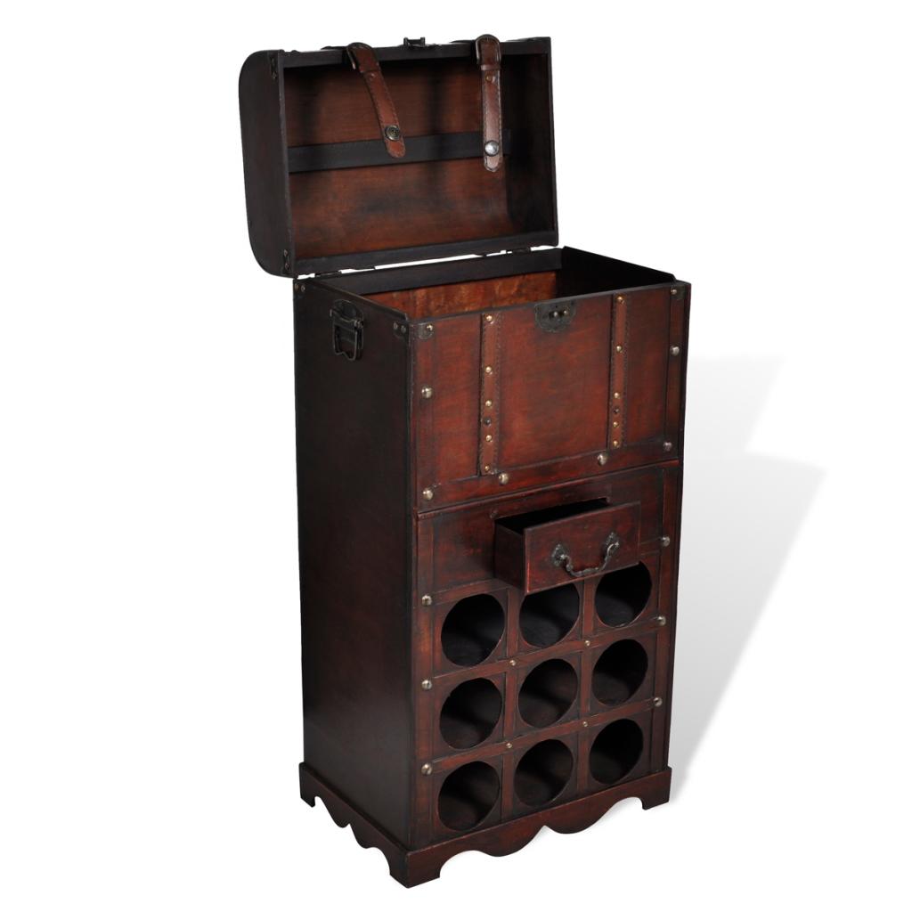 BOTTIGLIA di Vino in Legno Supporto Rack Stand Armadietto Cassetto Cucina Bar in legno