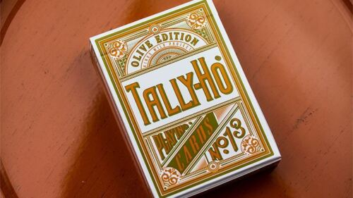 Olive Tally Ho Playing CardsPoker Deck by Jackson Robinson