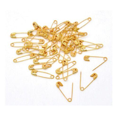 19 x 5 mm doré Lot de 100 minis épingles à Nourrice