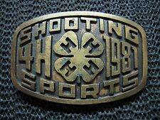 SHOOTING SPORTS 4H STATE FOUR RIFLE MATCH 1981 BELT BUCKLE! VINTAGE! RARE! 1981