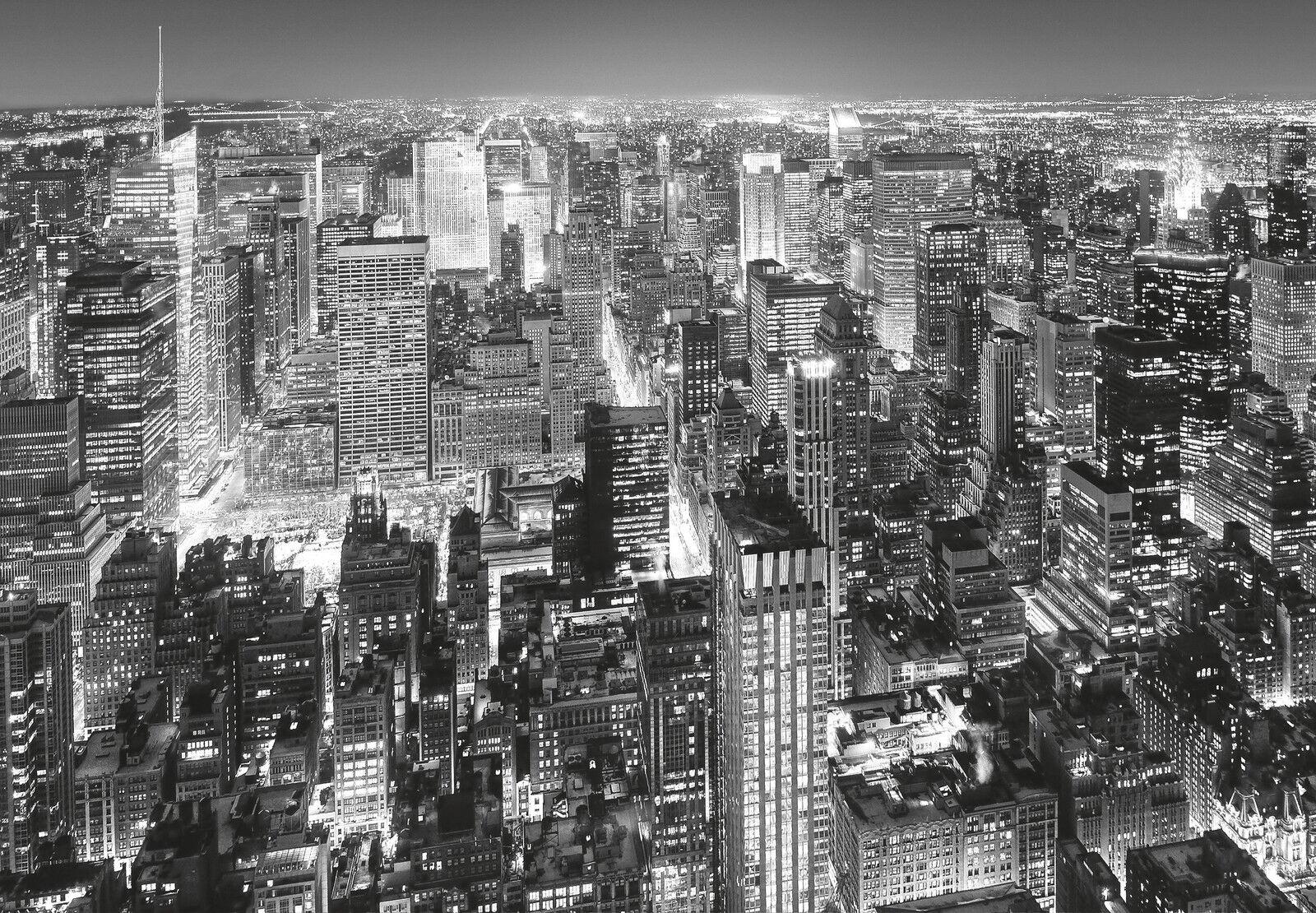 Fototapete- NEW YORK- (141i)-366x254cm-Manhattan Skyscrapes Skyline-mit Kleister