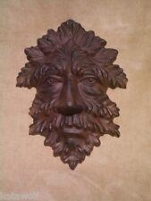 LEAF MAN PLAQUE mythical celtic GARGOYLE MASK cast iron JACK IN THE GREEN nature