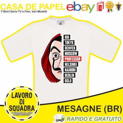 CASA DE PAPEL T-Shirt La Casa Di Carta Personaggi Serie Tv Professore Film