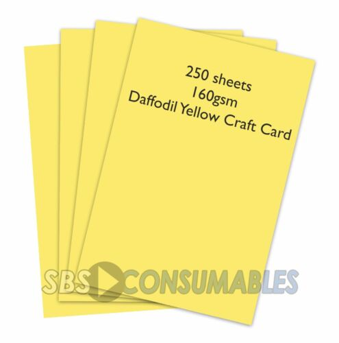 1023 DAFFODIL YELLOW 250 SHEETS A4 160gsm CLAIREFONTAINE COLOURED CRAFT CARD