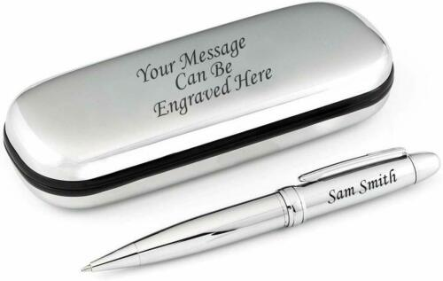 S.Steel Gift Box Personalised Sturdy Stainless Steel Ballpoint Pen Engraved