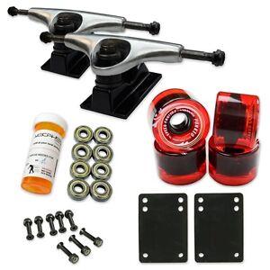 HD5 Skateboard Combo set - 2 tone Polished trucks (Gel Red)