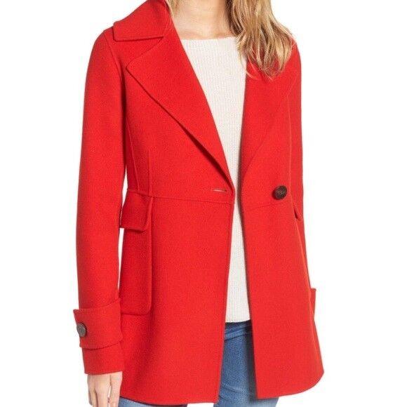 Nuevo con etiquetas Diane  von Furstenberg Marla Sin Forro Abrigo D120545C Poppy Talla M  398  precios mas bajos