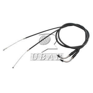 set 2pc black 130cm throttle cable wire for harley. Black Bedroom Furniture Sets. Home Design Ideas
