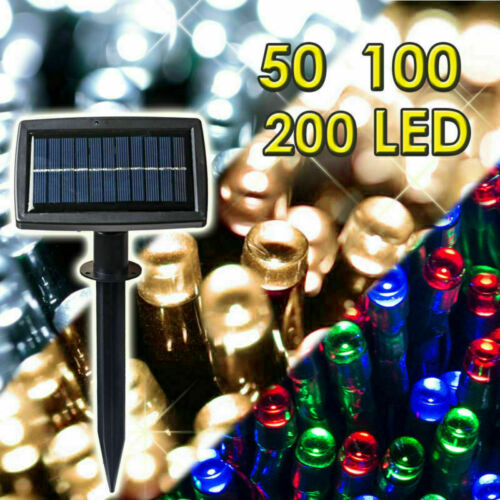 100-400 LED Solar Powered Garden Party Indoor Outdoor String Fairy Lights 2019