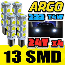 LED BA9S T4W 233 XENON WHITE 6000K STROBE POLICE FLASH BULBS SIDE LIGHTS 24V X 4
