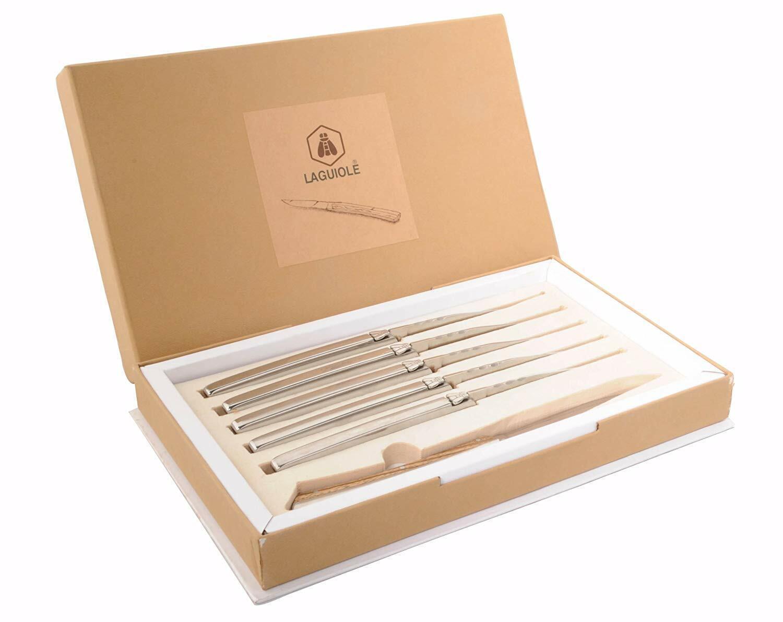 Laguiole 6er Steakmesser Set Vailhourles Vailhourles Vailhourles in einer Box Neu&OVP    | Erste Gruppe von Kunden  0fdd7b