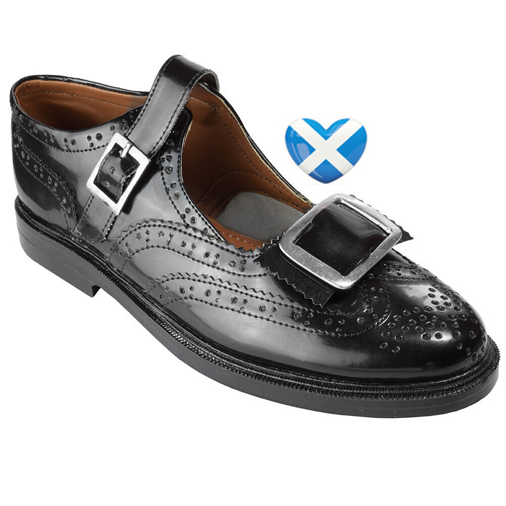 Scottish Schuhe Evening Brogue Schuhe Scottish with Buckle Highland Style Formal Kilt  Größe 6-13 9e7d16