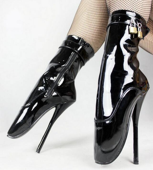 Para mujeres Zapatos Cremallera De Ballet Club nocturno Cremallera Zapatos Prendas para club nocturno Stileto Super Tacón Alto botas al tobillo b65043