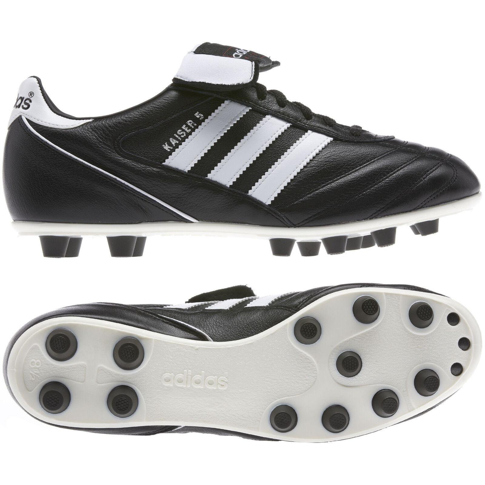 Sautope da calcio uomo Adidas Kaiser 5 Liga 033201 nero-bianco