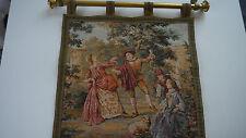 """Gobelin Wandteppich """"Tanzender Barock"""" - 51 x 49 cm"""