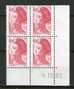 TIMBRE-N-2244-NEUF-XX-LUXE-COIN-DATE-DU-9-12-82-LIBERTE-DE-GANDON