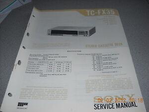 SONY-TC-FX35-Stereo-Cassette-Deck-Service-Manual