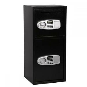 New-Double-Door-Cash-Office-Security-Lock-Digital-Safe-Depository-Drop-Box-B02