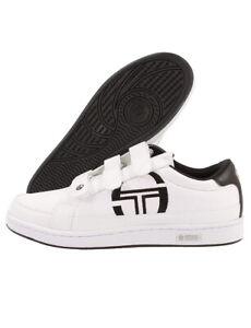 Sergio-Tacchini-Garda-3-Strap-Classic-Trainer-Size-9-White-Brand-New-Last-Pairs
