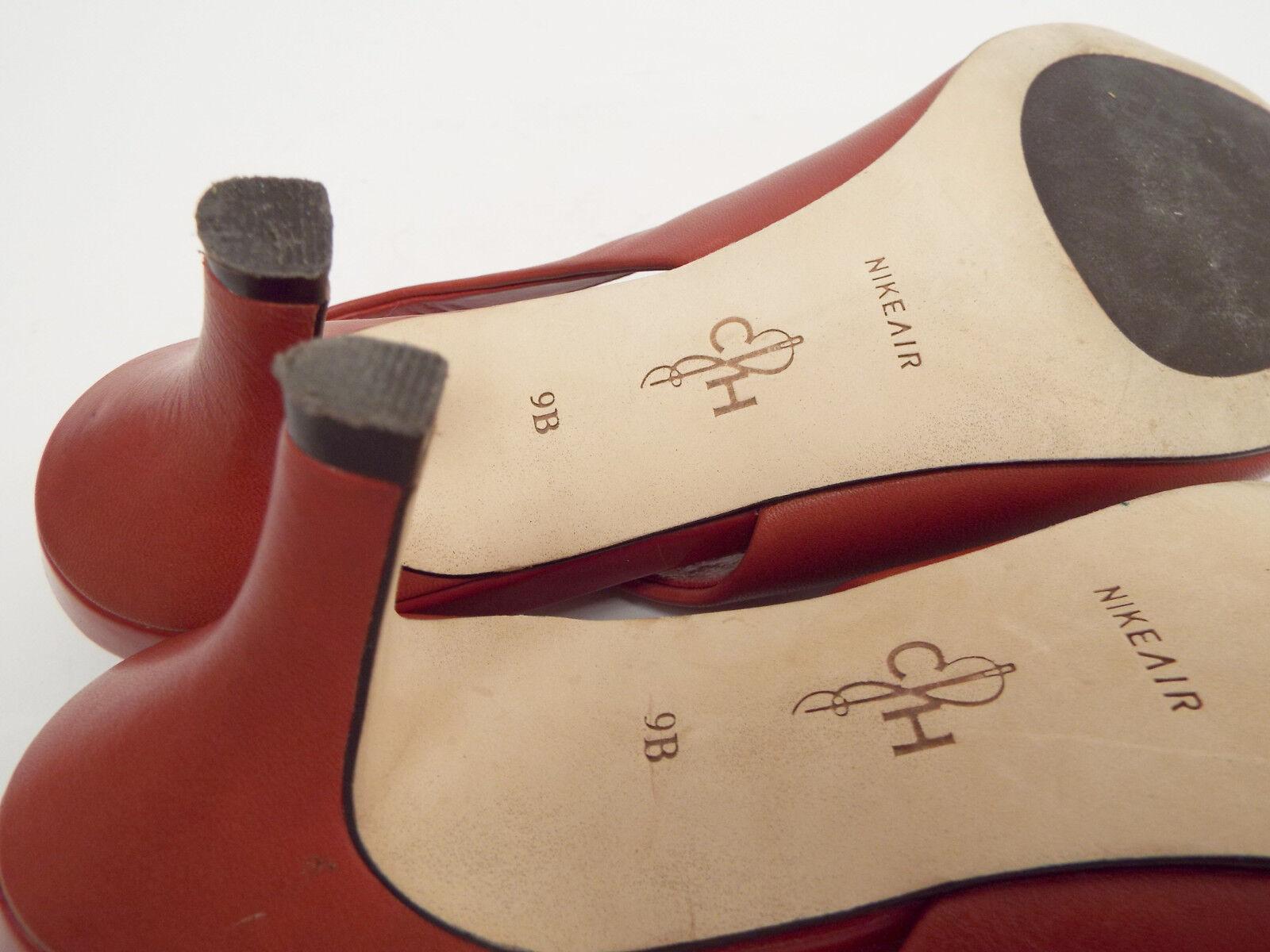 COLE HAAN Größe 9 Pumps ROT Leder Slingback Heels Pumps 9 Schuhes N. Air fc9271